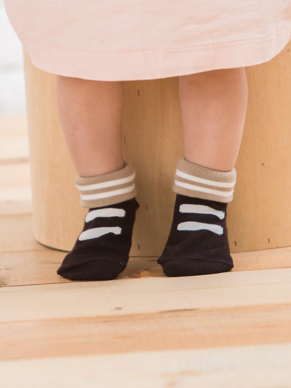 貝寶Supima寶寶襪(寬口)-湯姆鞋