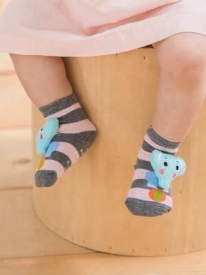 貝寶手縫公仔寶寶襪-長鼻象