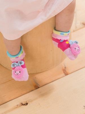 貝寶手縫公仔寶寶襪(寬口)-羊咩咩