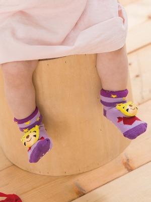 貝寶手縫公仔寶寶襪(寬口)-乖虎