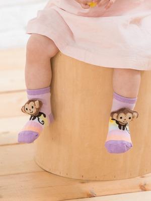 貝寶手縫公仔寶寶襪-淘氣猴
