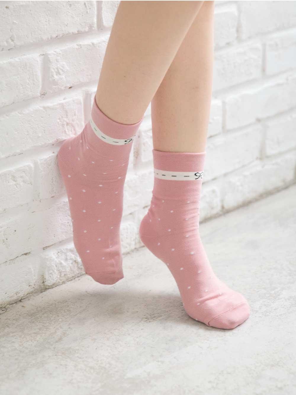 貝柔(女)Supima抗菌萊卡除臭襪-寬口短襪(蝶結)