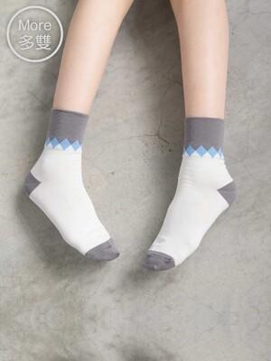 貝柔(5雙) Supima抗菌萊卡除臭襪-短襪(寬口菱格)