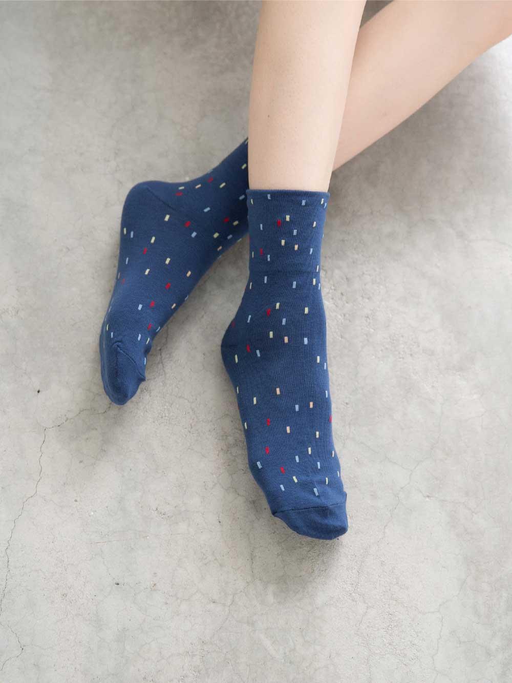 貝柔(女)Supima抗菌萊卡除臭襪-寬口短襪(點點)