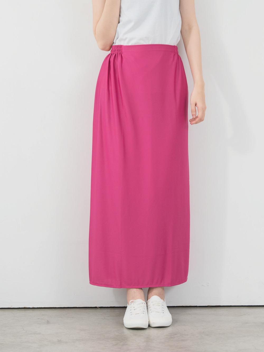 貝柔高透氣防曬遮陽裙-桃紅