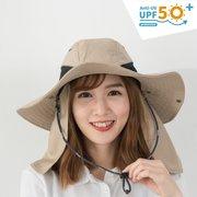 UV50+多功能休閒式遮陽帽-女