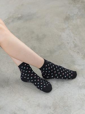 貝柔精梳棉短襪-俏皮點點