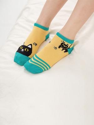 貝柔貓日記萊卡船型襪-移動