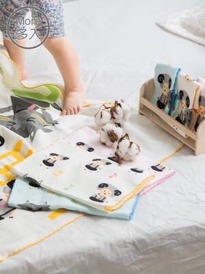 (3入)童話純棉抗菌紗布童巾_七小羊