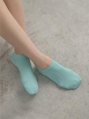 貝柔涼感夏日腳底止滑船型襪-純色