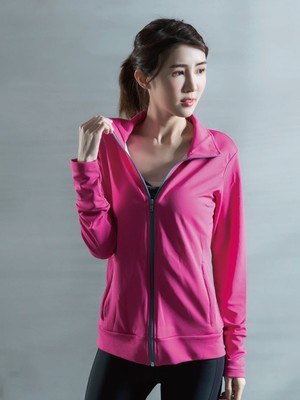 貝柔UPF50+高效涼感抗UV防曬外套-桃紅