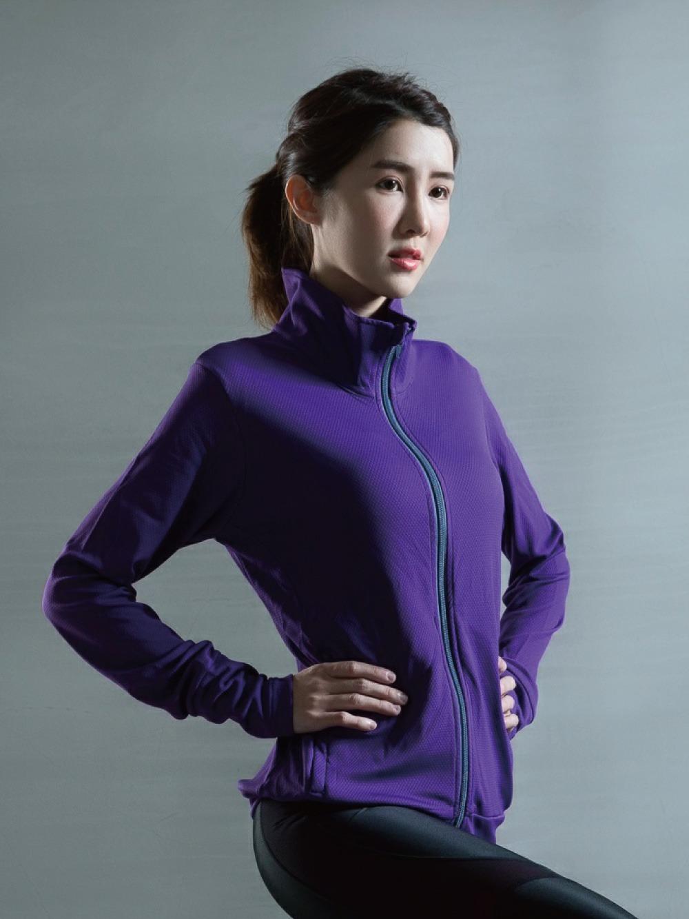 貝柔UPF50+高效涼感抗UV防曬外套-亮紫