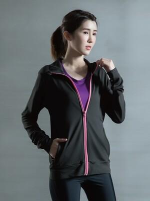 貝柔UPF50+高效涼感抗UV防曬外套-曜黑