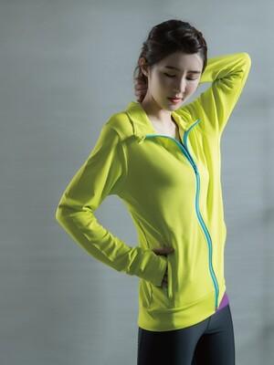 貝柔UPF50+高效涼感抗UV防曬外套-螢光綠