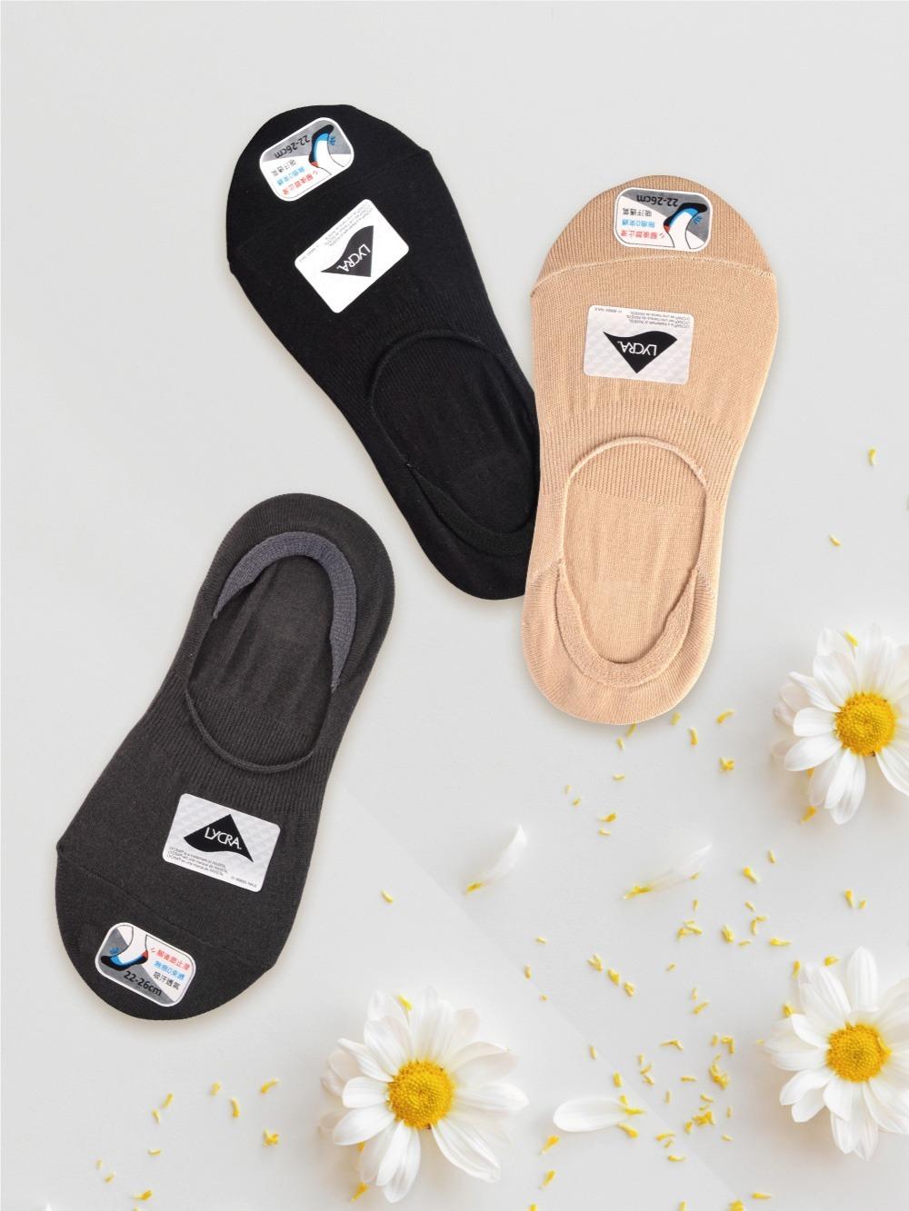 貝柔0束痕柔棉止滑襪套-帆船鞋款(純色)