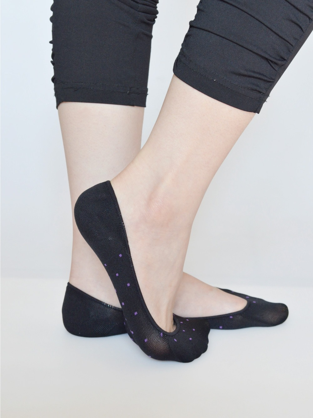 貝柔吸濕速乾足底止滑襪套-點點