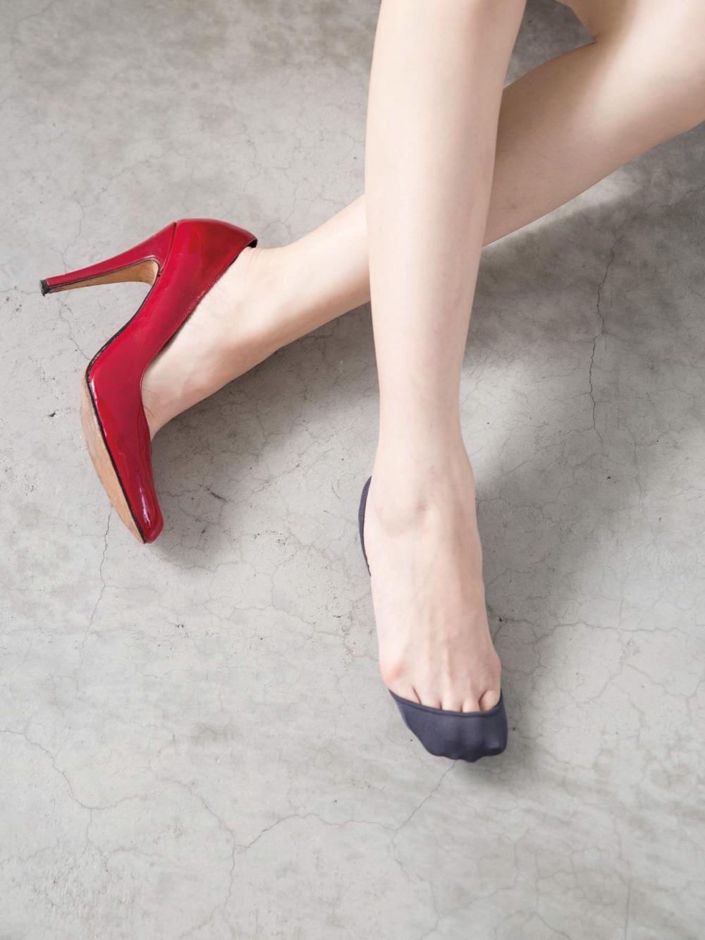 貝柔吸濕速乾足底止滑襪套-高跟鞋款