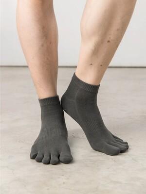 13針柔棉乾爽五指襪-加大極短襪