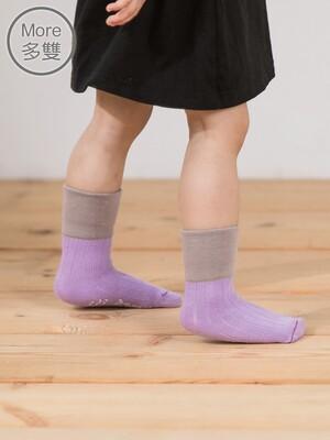 貝寶(3雙)兒童萊卡柔棉止滑寬口短襪-女