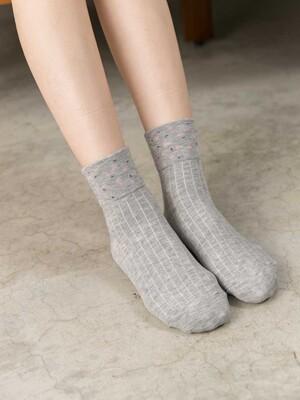 貝柔日系萊卡寬口襪-小花