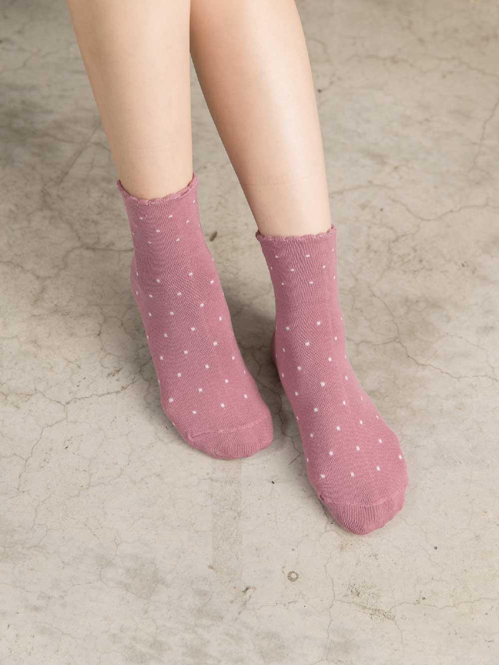 貝柔柔棉寬口襪-點點