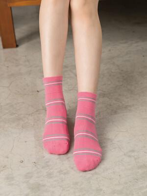貝柔柔棉寬口襪-條紋