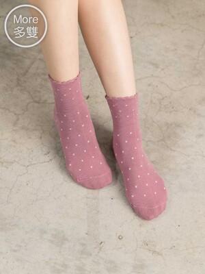 貝柔(6雙)柔棉寬口襪-點點