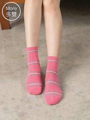貝柔(6雙)柔棉寬口襪-條紋