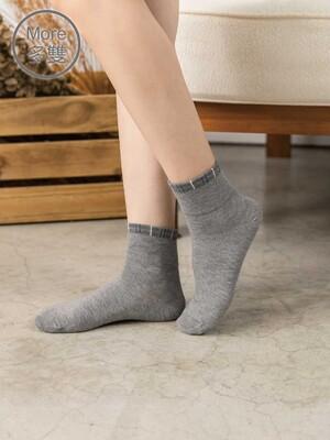 貝柔(6雙)柔棉寬口襪-滾邊