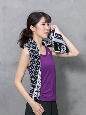 天絲棉抑菌運動毛巾-菱格