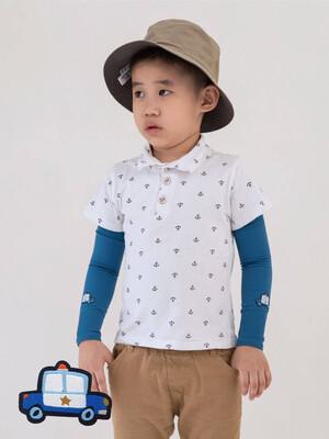 貝柔UPF50+兒童高效涼感防蚊抗UV袖套-警車