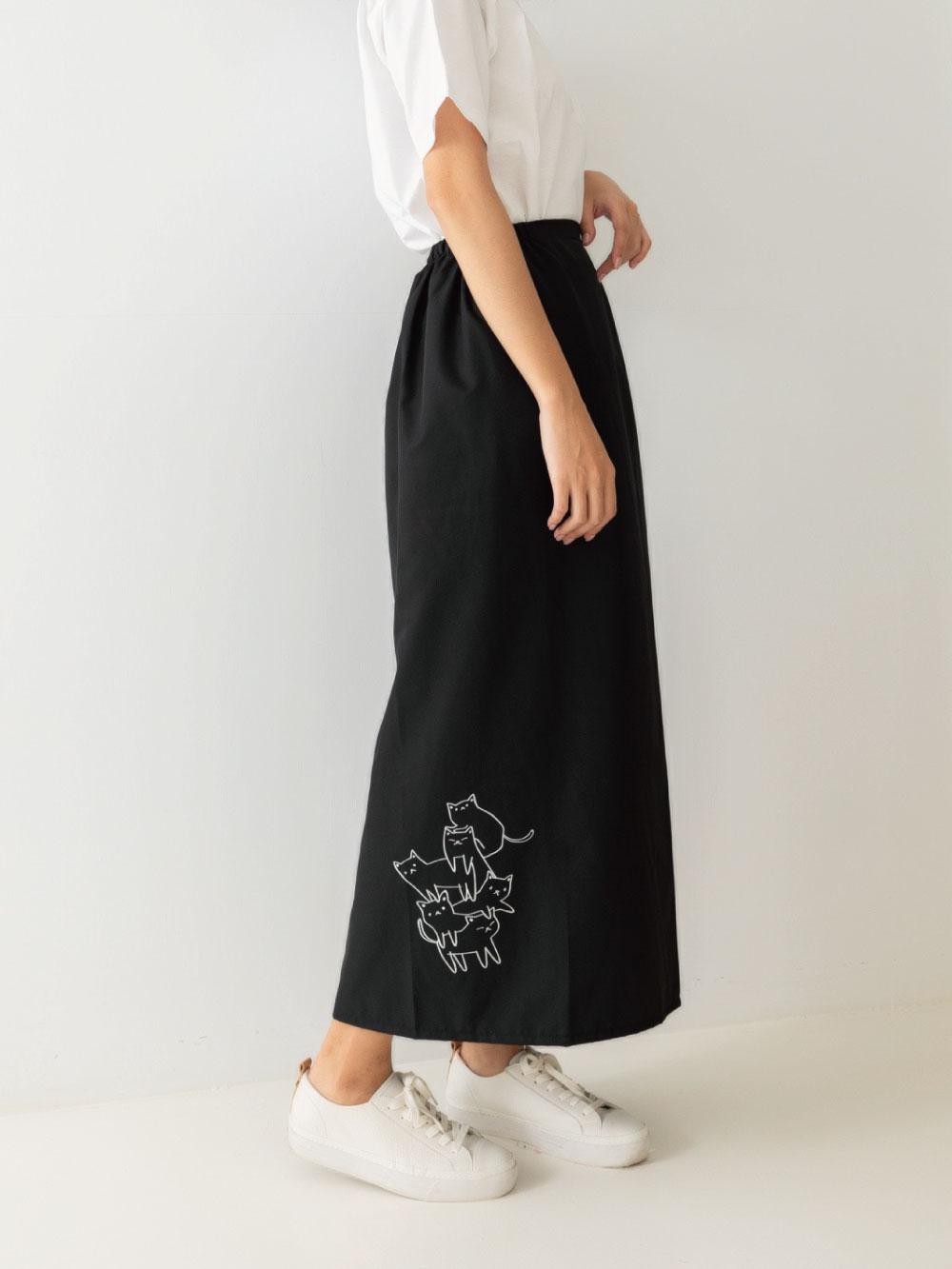 貝柔貓日記防潑水防風防雨遮陽裙-疊疊樂