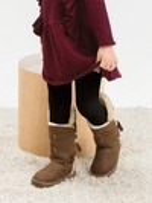 女童精梳棉義式對目褲襪
