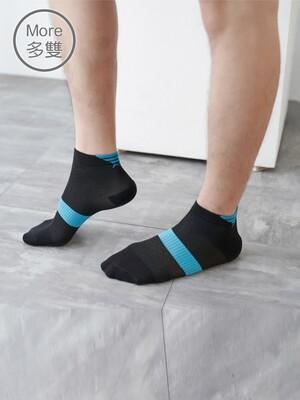 (3雙)除臭抑菌足弓專利氣墊短襪_L