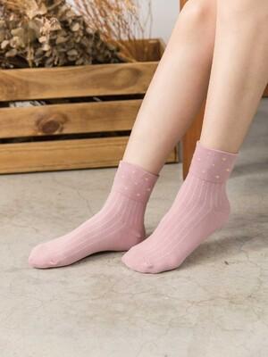 貝柔日系萊卡寬口襪-點點