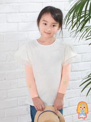 貝柔UPF50+兒童高效涼感防蚊抗UV袖套-灰姑娘(刺繡)