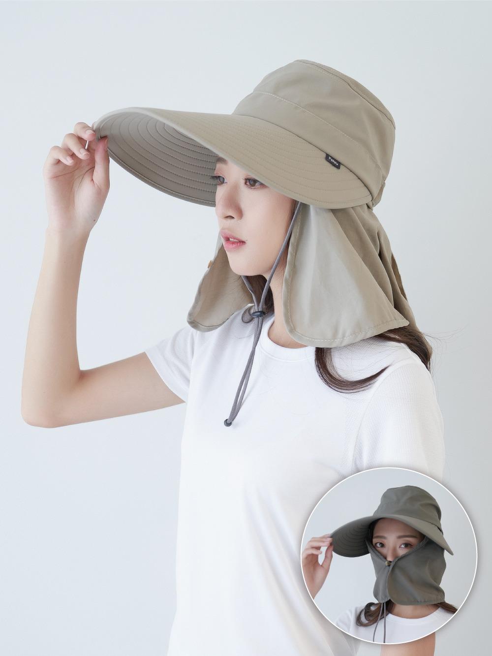貝柔UPF50+多功能淑女護頸遮陽帽(偏小)
