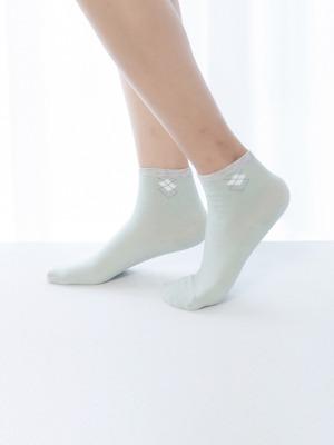 貝柔消臭精梳棉短襪-菱格