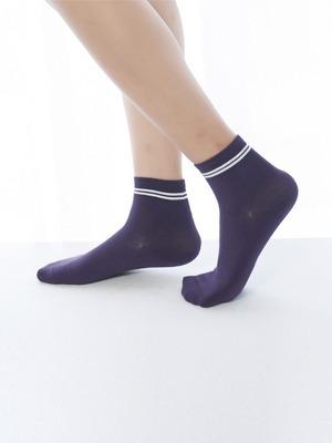 貝柔消臭精梳棉短襪-條紋