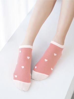 貝柔消臭精梳棉船襪-愛心