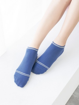 貝柔消臭精梳棉船襪-條紋