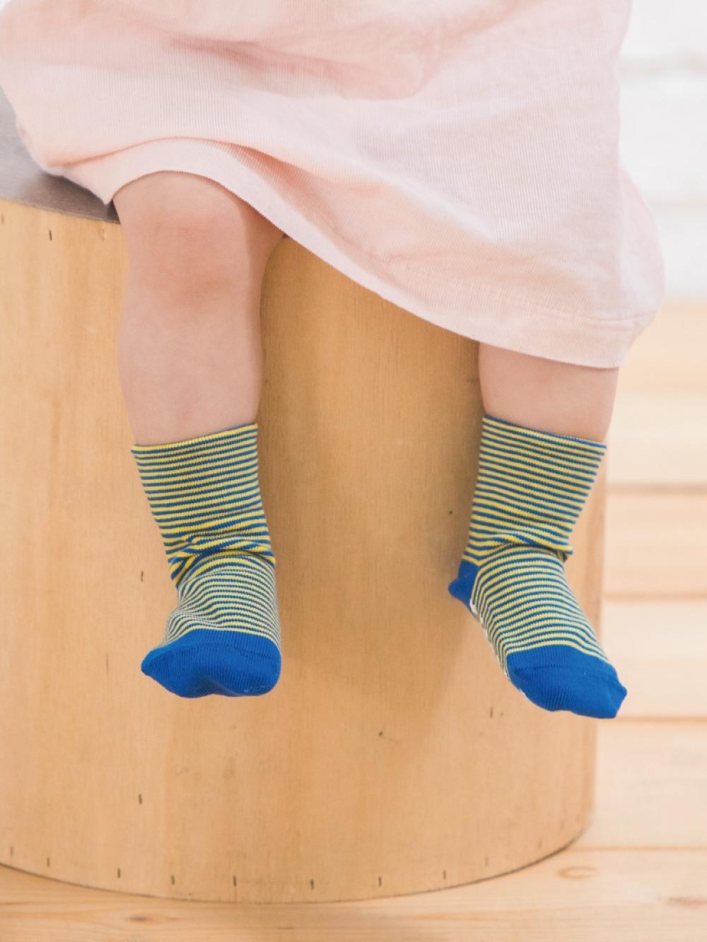 貝寶Supima寶寶襪(寬口)-條紋