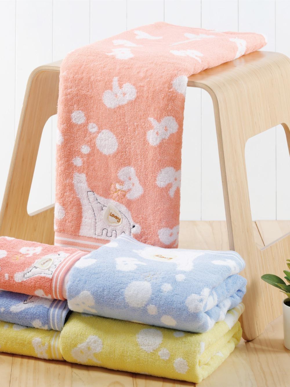 貝柔無捻紗大象柔棉浴巾(140x70cm)
