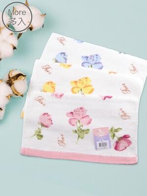 (3入)貝柔柔綿玫瑰毛巾
