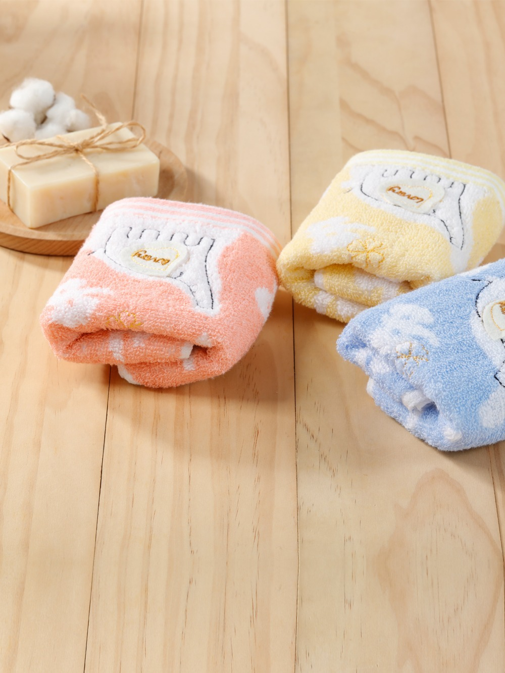 (3入)無捻紗大象柔棉童毛巾