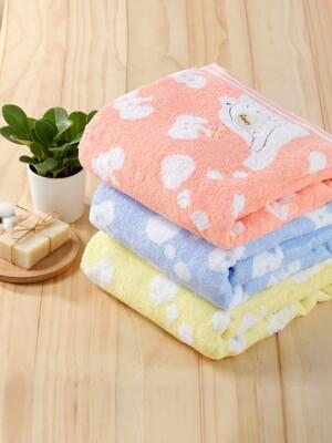 (3入)無捻紗大象柔棉毛巾