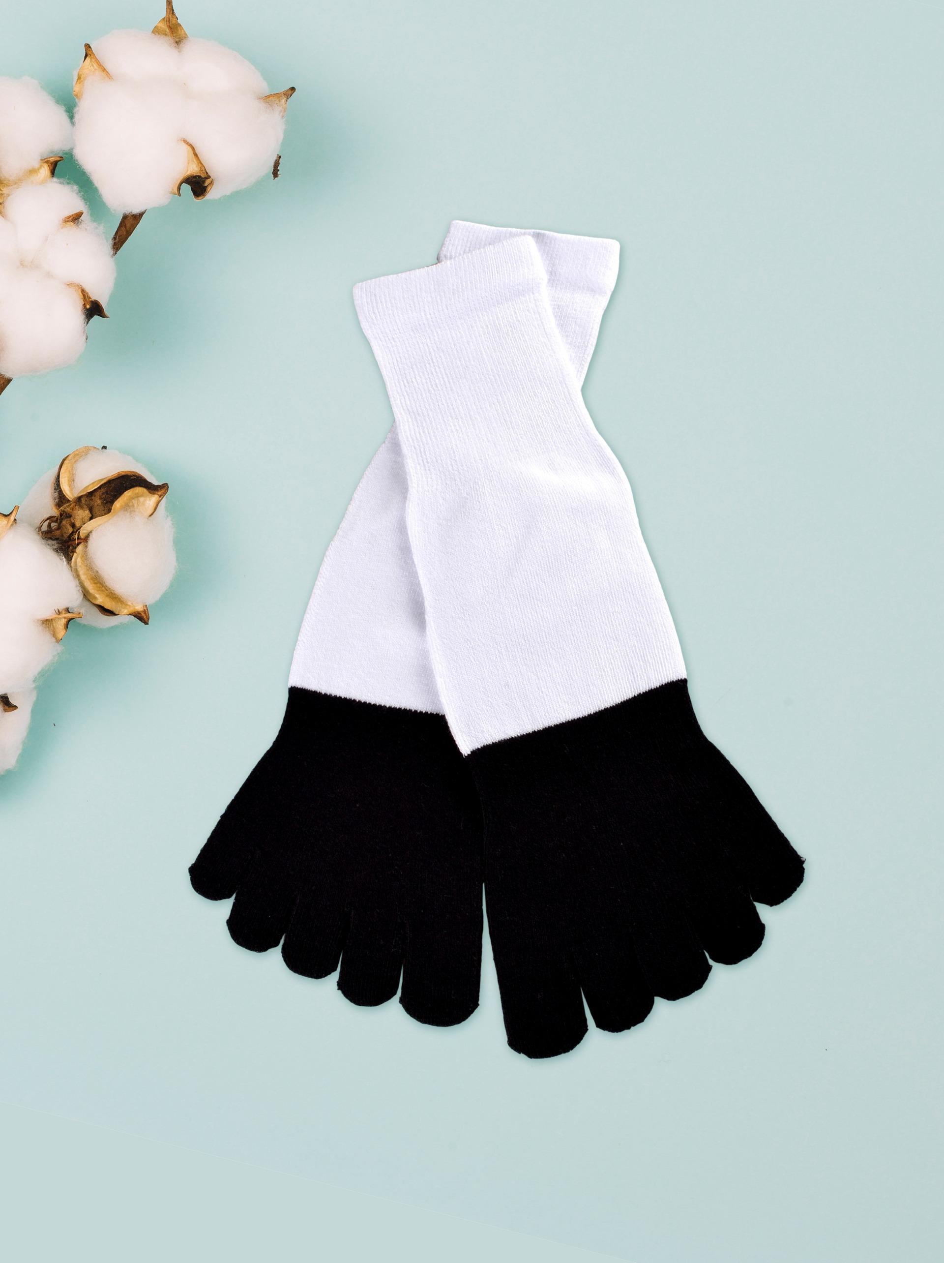甲殼素抗菌吸濕排汗五指長襪
