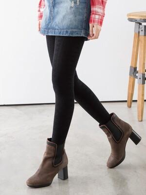 立體針織花紋精梳棉褲襪-雪花