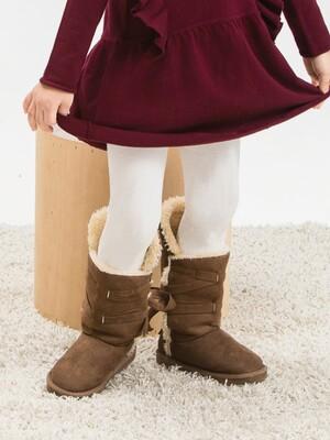 女童精梳棉保暖褲襪-麻花