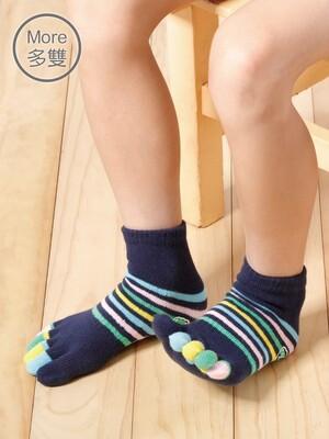(6雙)舒服棉兒童五指襪_繽紛短襪